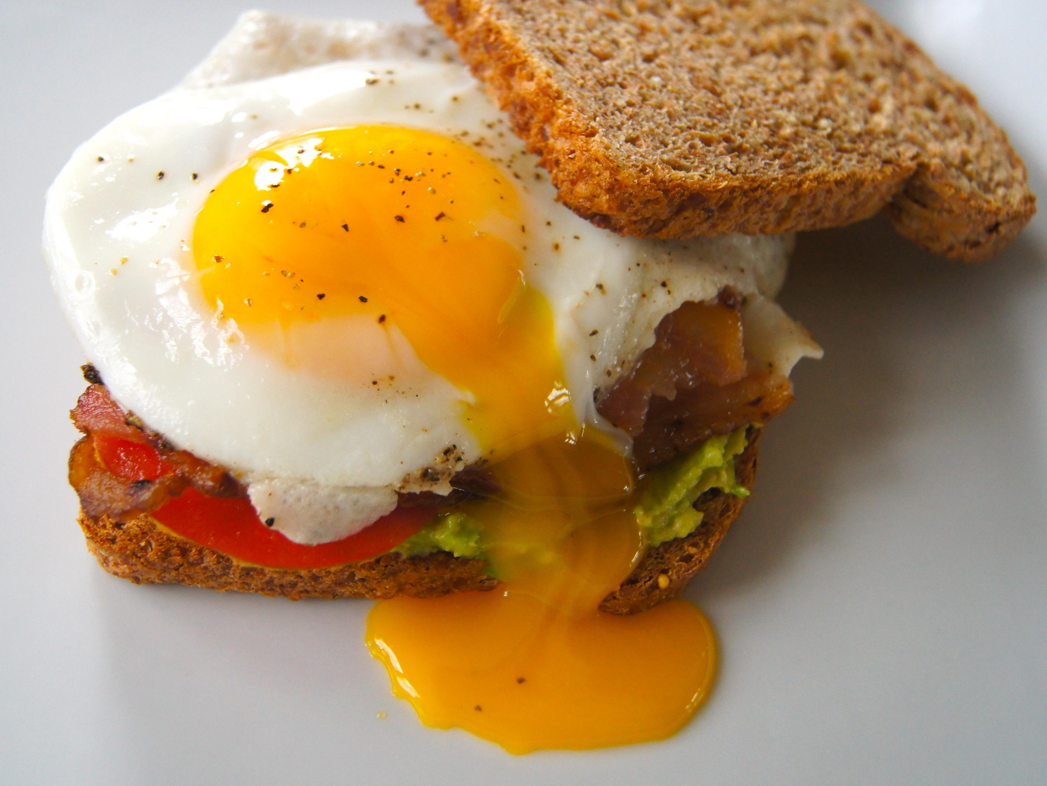 Bacon, Egg, Avocado and Tomato Sandwiches | NourishedPeach